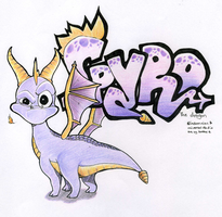 Spyro the dragon grafitti logo by Grethe--B
