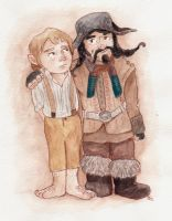 Bilbo and Bofur by sawieb