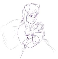Tess And Pup by foxhat94
