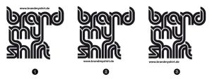 Brand My Shirt Logo Identity by kn33cow