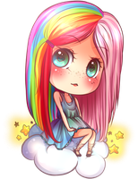 floating on a cloud of color by lovenotestudios