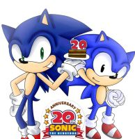 Sonic 20th anniversary by naomithecat1