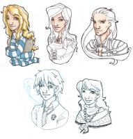 Libra and Viktor families by Drakenoom