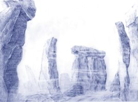 Stonehenge - Clair obscur by Sedjin