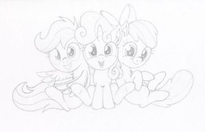 Cutie Mark Crusaders by Agamnentzar