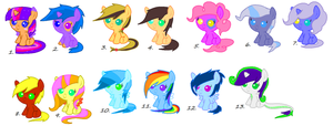 Mlp Shipped Adopts [OPEN] by xDemonStar