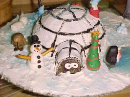 igloo cake by toastles