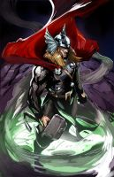 Thor colored by Csyeung