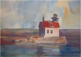 esopus light house by staatsf