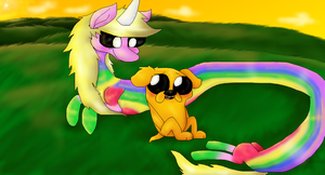 Jake and Lady by PlagueDogs123