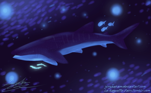 Space Whale Shark by GingaAkam