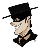 Tyrone Power Toon masked by Kryptoniano