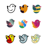Twitter Birds by tickey