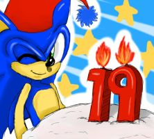 Sonic 19th by ss2sonic