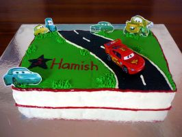 Cars Cake by 1-Lilith-1
