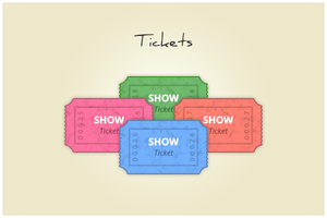 95 Tickets (freebie by pixelcave) by pixelcave