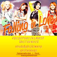 8 2NE1 (Falling in love) Font by Lanelovey