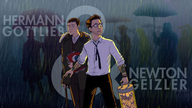 Gottlieb and Geiszler - Pacific Rim by Girl-on-the-Moon