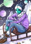 ACEO #134: Winter in Space by MTToto