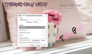 Cursor Transparency water by TutosPixi
