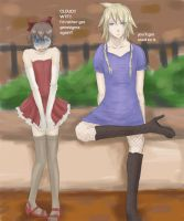 FF7- They're Manly Dresses. by lady-leliel
