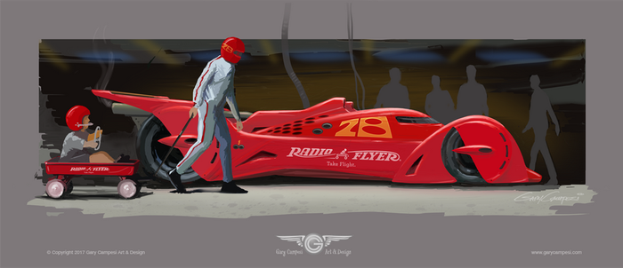 Radio Flyer Streamliner by GaryCampesi