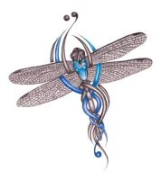 dragonfly tattoo by ashdesigns