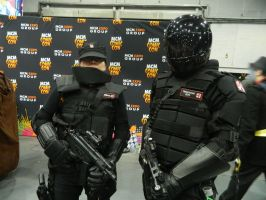 MCM Telford 2014 - Umbrella Corp in action by MJ-Cosplay
