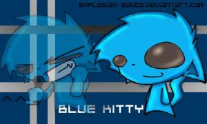 Kitties in Doodlez: Blue Kitty by explosion-sauce