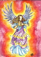 Angel with bright background by jac