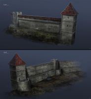 Plagued - City Wall Structure by BlueRogueVyse
