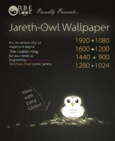 Jareth-Owl Wallpaper by Norda