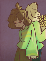 Asriel And Chara by lisianthus-rose