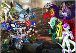 Heroes vs Villians by pokekid333