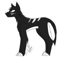 A Sorry Attempt at a Wolf by Changeling-Neon