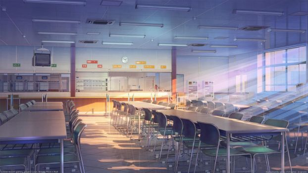 School cafeteria by arsenixc