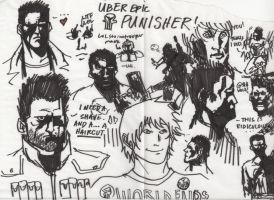 The punisher sketches01 by severusgraves