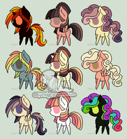 9 Pony Adoptables #29 [CLOSED] by wallabean