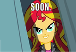 Sunset Shimmer is watching you... by LittleCloudie