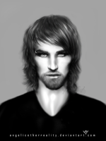 Realistic Drawing -Vampire Portrait '4 by angelicetherreality