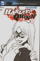Harley Quinn Sketch Cover by TeamAmazing