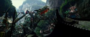 The Autobots and the Dinobots. by sonichedgehog2