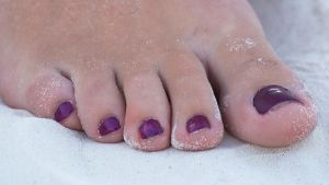 Smurfette's Sandy Toes in Purple 2 by Feetatjoes