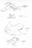 Sketch Dump - Aircraft by illogictree