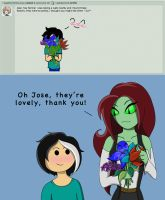 Question 19 - Flowers....... for me? by AskSerina