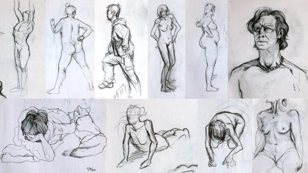 Figure Drawing Collage by AshesB