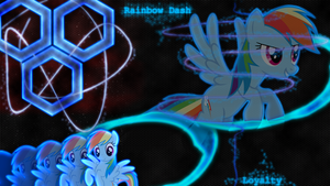 [Hexagon Series] - Rainbow Dash 1920x1080 by forgotten5p1rit
