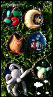 resin clay bottlecap charms by quidditchmom
