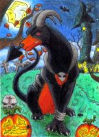 ACEO - Happy Birth-Ween by o-Anubis-o