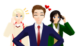 .:Fabulous hair trio:. by AskTheDoctorxFemEng